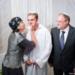 Sondra and Ed Baras with Groom