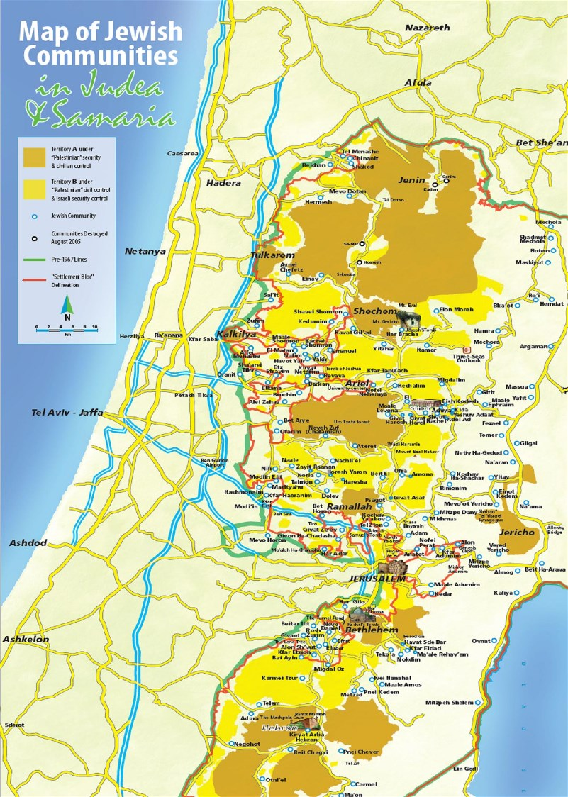 Settlement Map | Christian Friends of Israeli Communities
