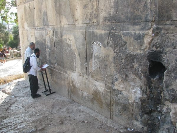 Praying at Machpelah Cave in Hebron