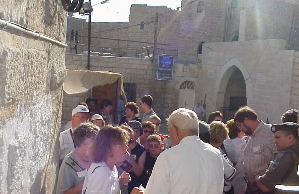 Tour Group in Hebron