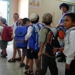 Samaria Kids in line