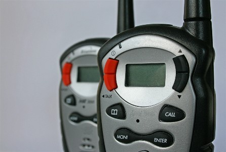 These special walkie-talkies provide a direct communication link to the main security headquarters for every volunteer and emergency worker.