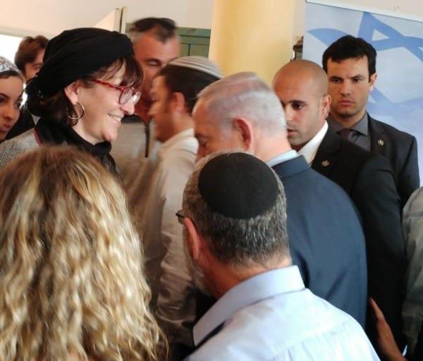 Sondra Baras And Prim Minister Benjamin Netanyahu