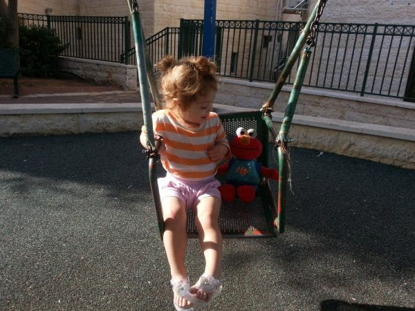Toddlers LOVE to swing! You can bring them happiness and joy