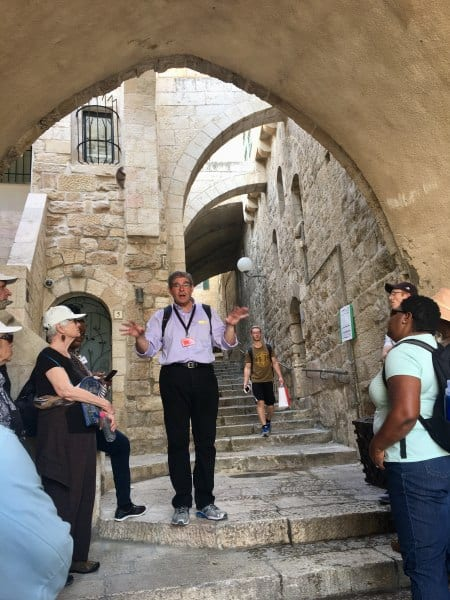 Exploring the Old City of Jerusalem with our tour guide Danny Ehrlich