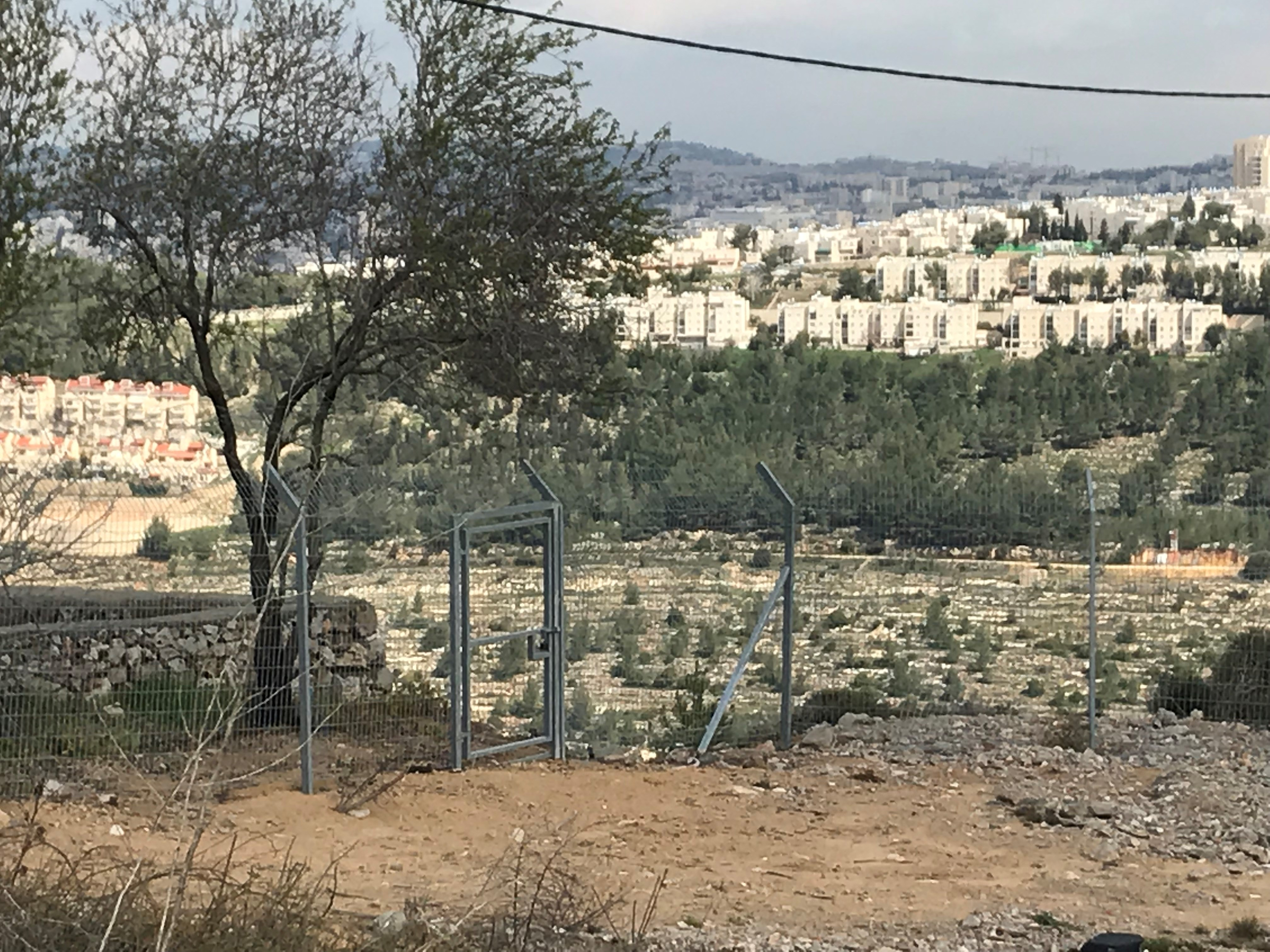 Looking into Jerusalem from Har Gilo.